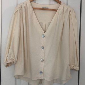 Zara Off-White Blouse